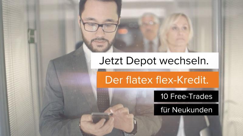 flatex flex Kredit free trades Spot