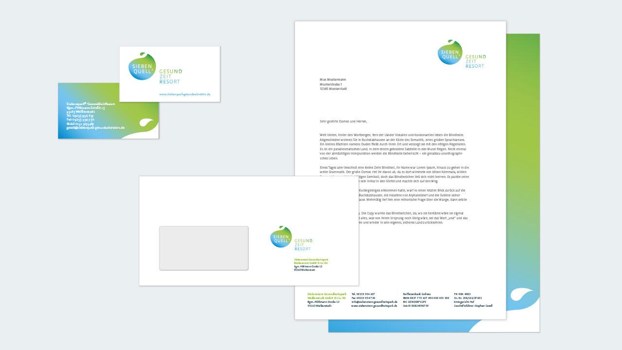 Siebenquell Markenbild Corporate Design