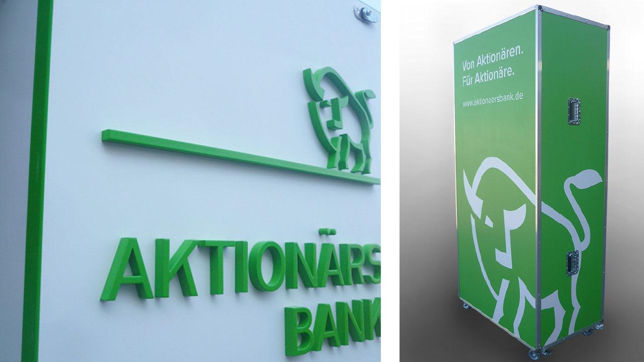 Aktionärsbank Markenbild mobiler Messestand