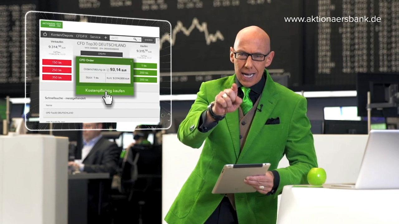 Aktionärsbank Markenbild Spot mit Mick Knauff