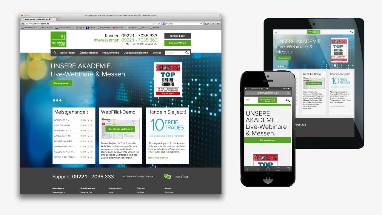 Aktionärsbank Markenbild Online