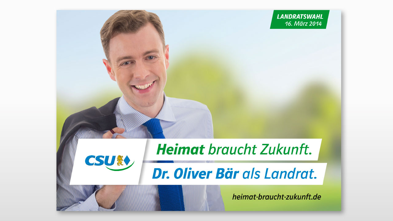 CSU Wahlkampfwerbung Plakat CSU Oberfranken election campaign