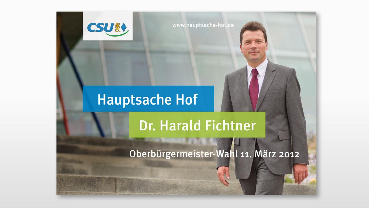 CSU Wahlkampfwerbung Größfläche CSU Oberfranken election campaign