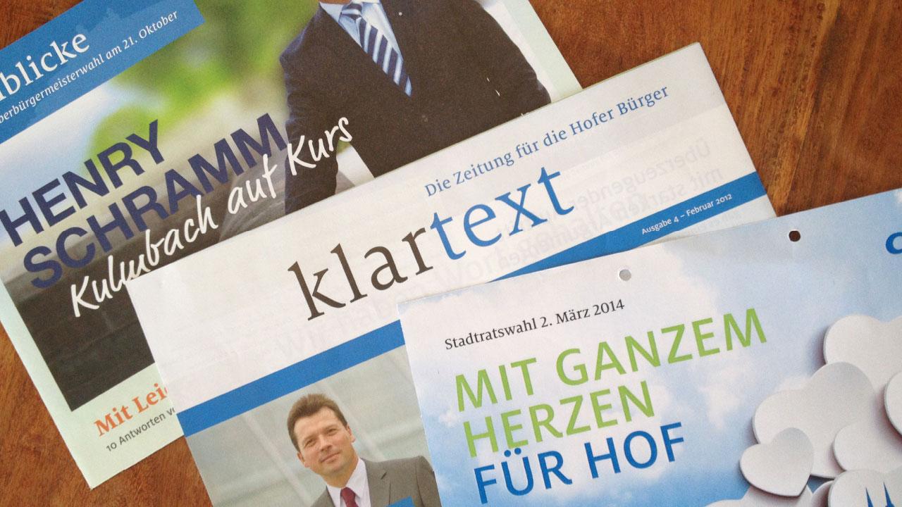 CSU Wahlkampfwerbung Anzeige CSU Oberfranken election campaign