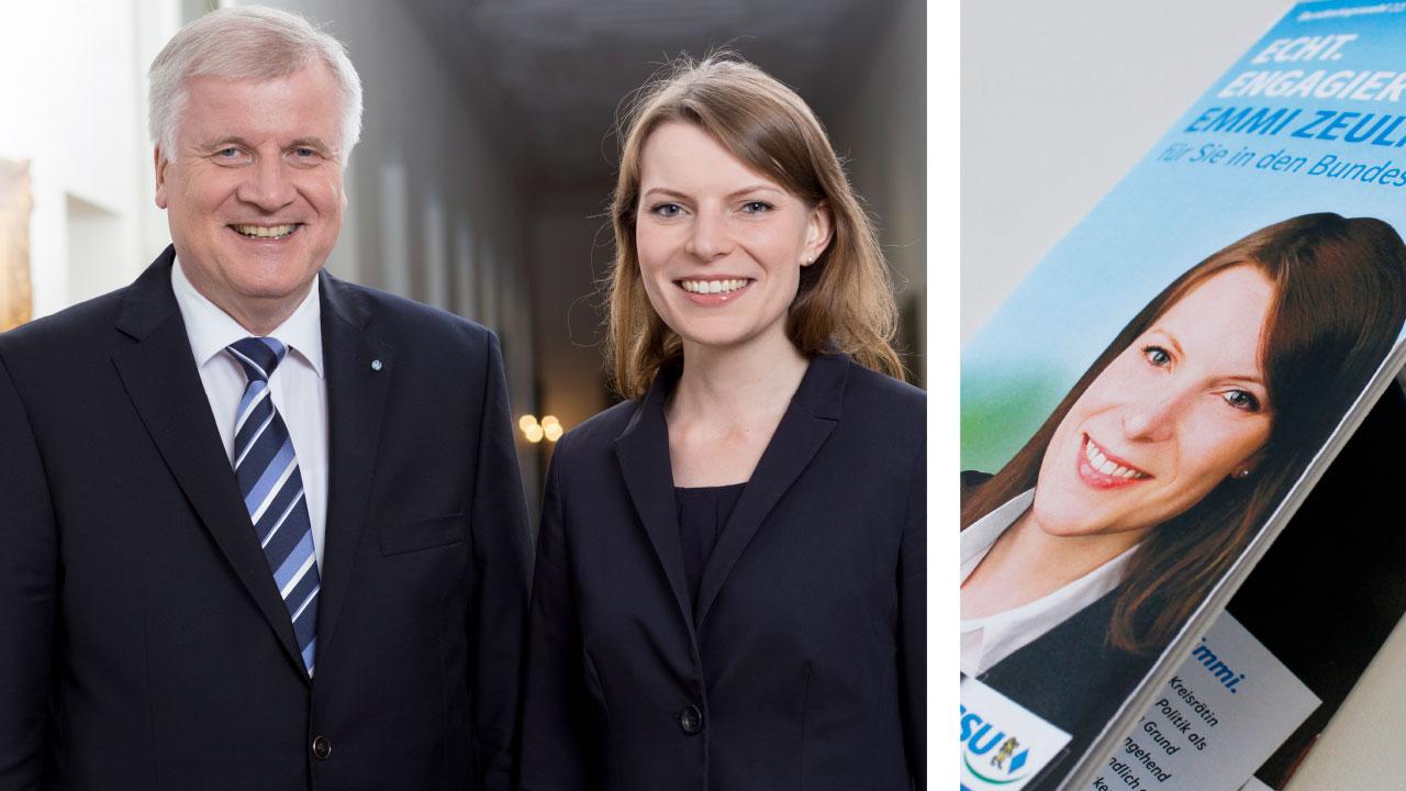 CSU Wahlkampfwerbung CSU Oberfranken election campaign