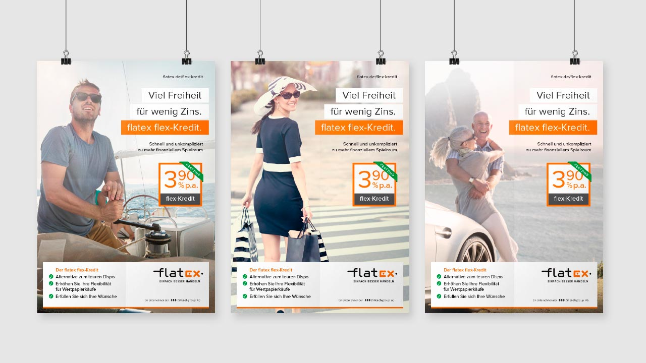 flatex flex Kredit Plakat
