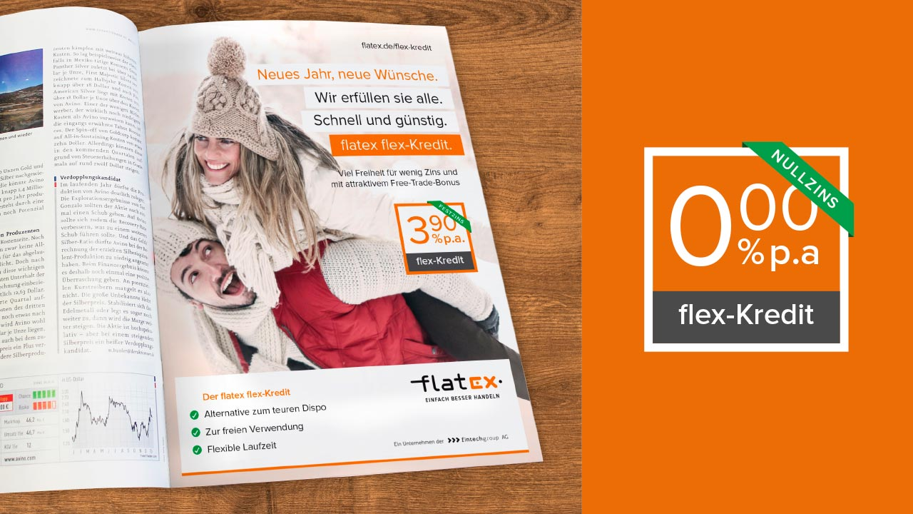 flatex Online Broker Kampagne flex-Kredit flatex online broker flex-Kredit