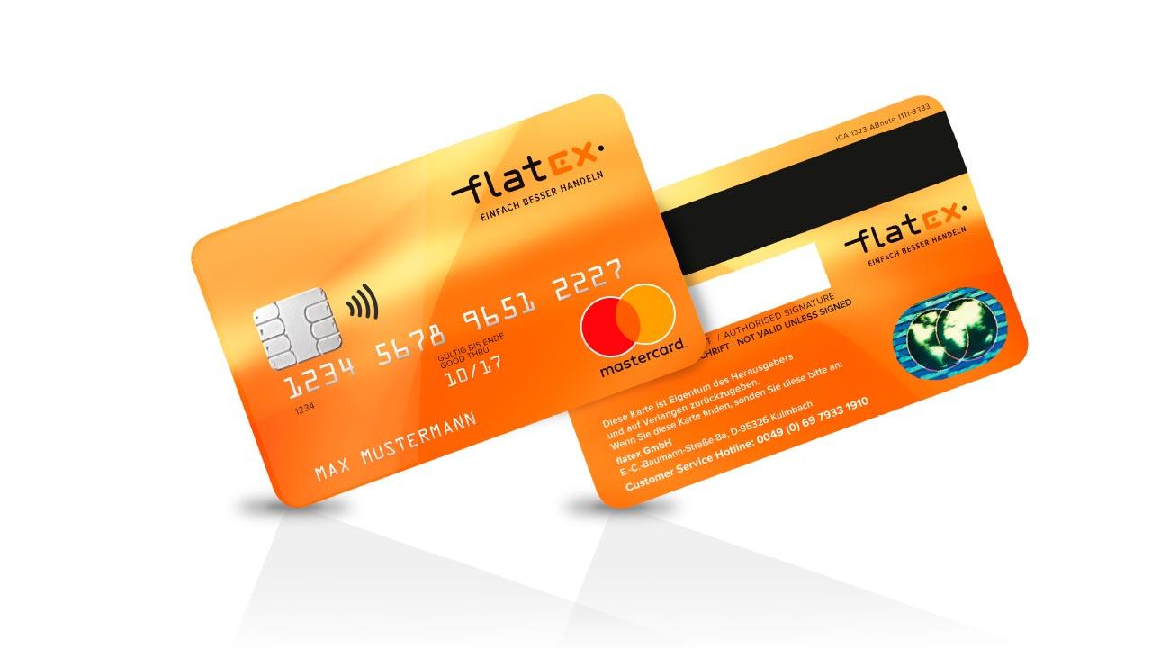 flatex Markenbild Kreditkarte flatex Online Broker brand image