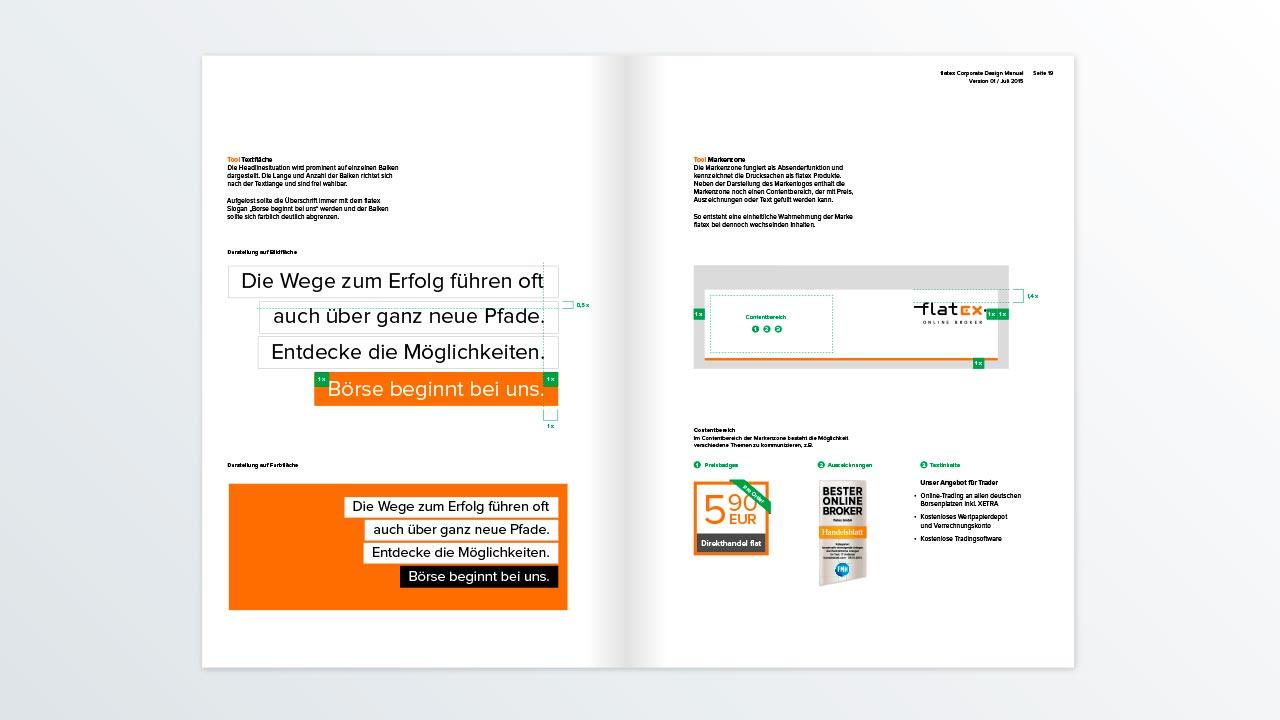 flatex Markenbild Designmanual flatex Online Broker brand image