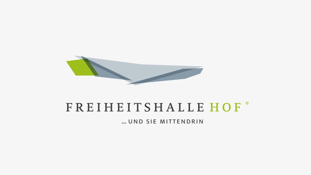 Freiheitshalle Markenbild Logo Hofer Freiheitshalle Brand image