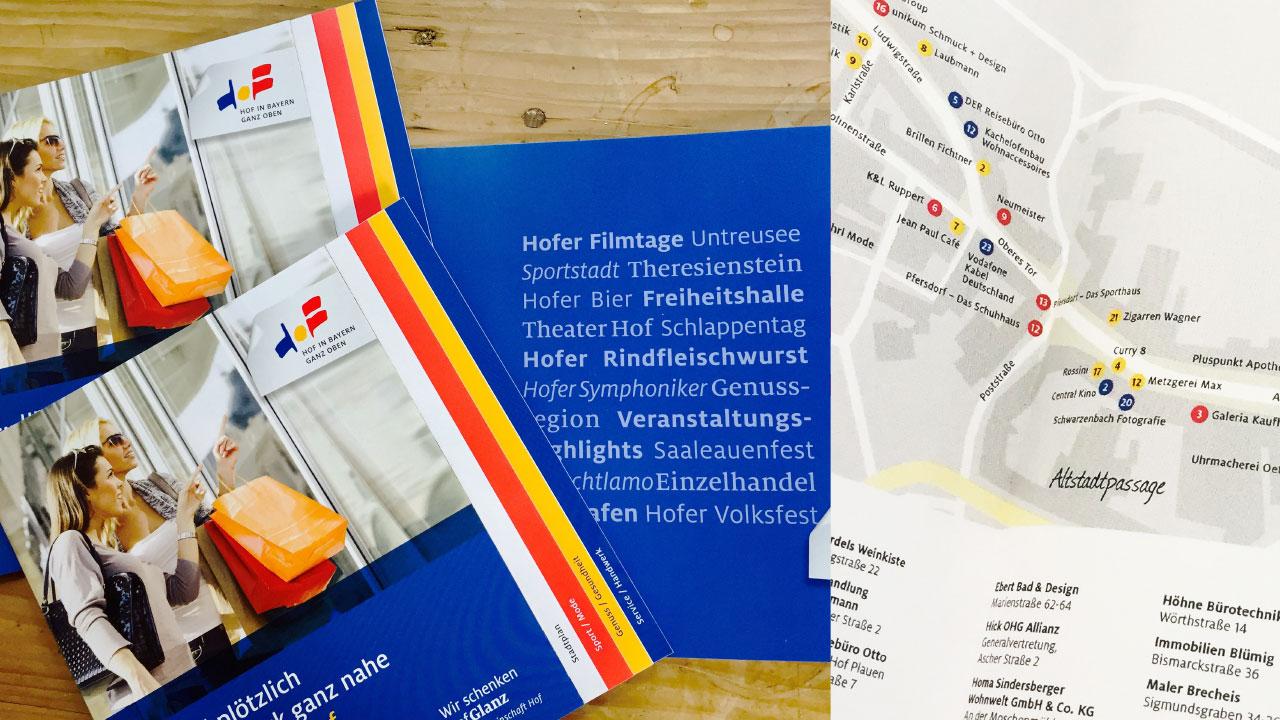 Hofer Einzelhande Markenbild Print Hofer Einzelhandel brand-building image