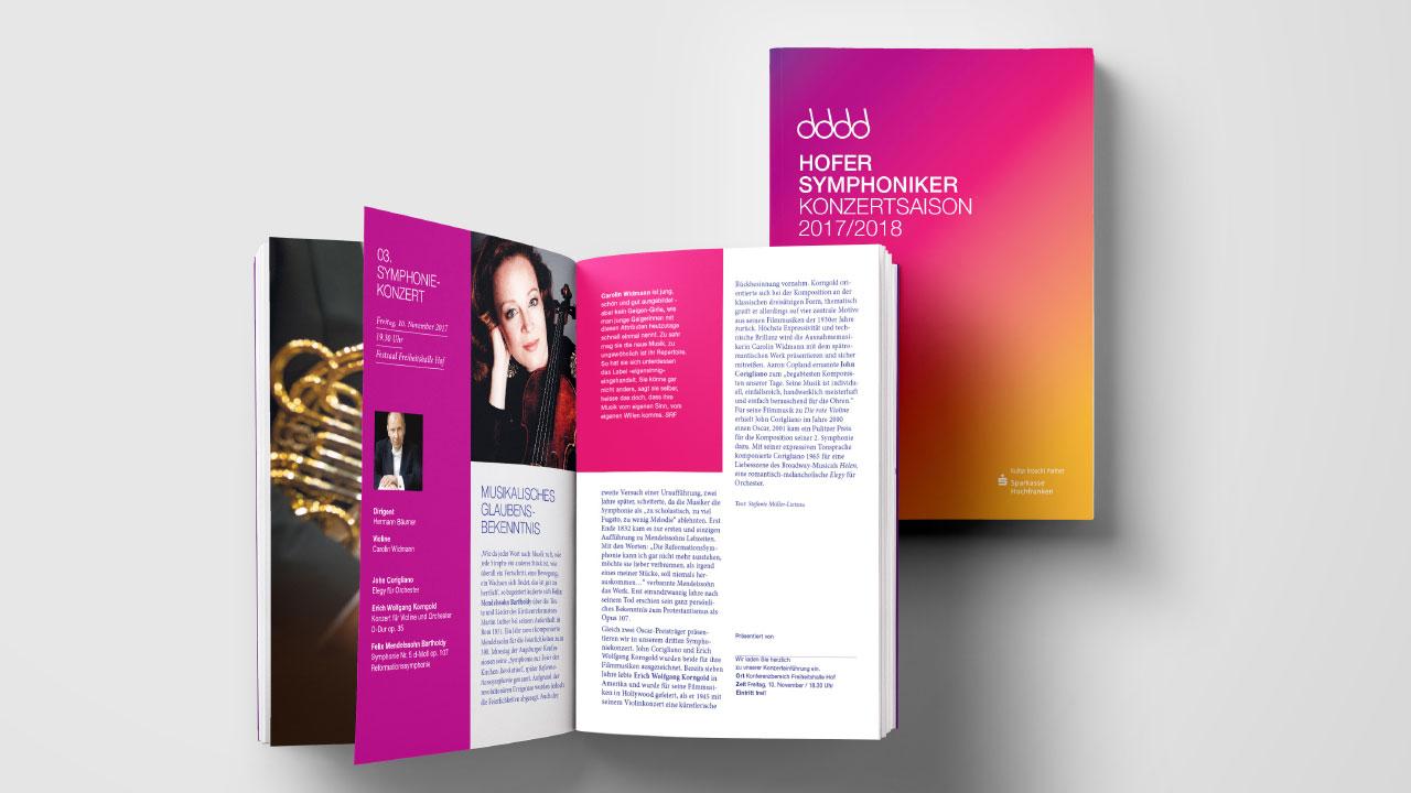 Hofer Symphoniker Markenbild Broschüre