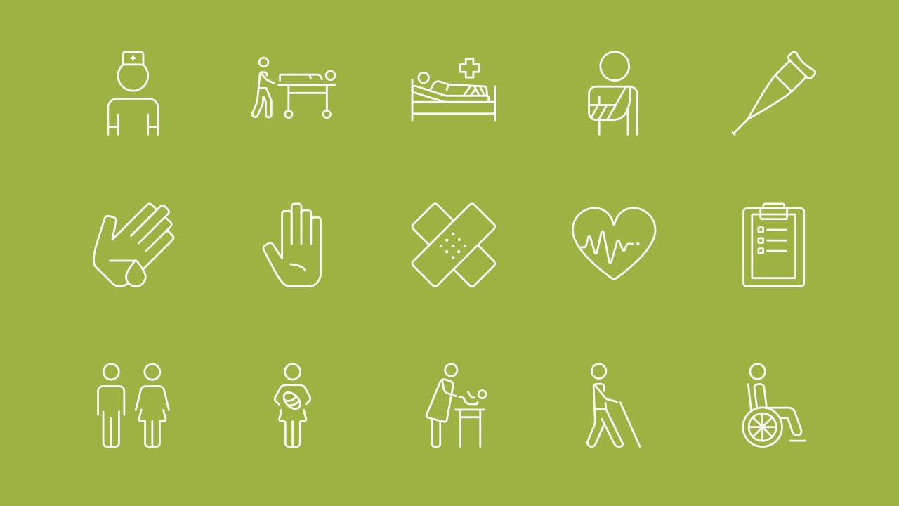 Klinik Naila Markenbild Icons
