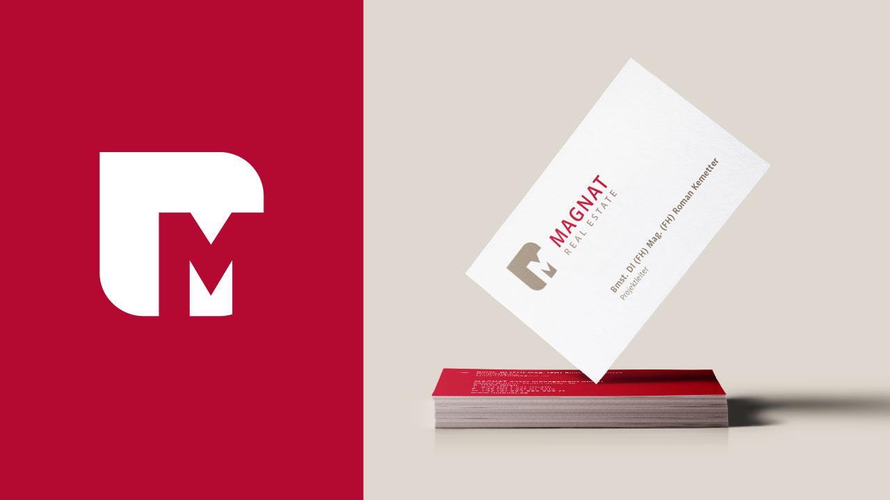 Magnat Geschäftsausstattung Visitenkarte Magnat Real Estate Business equipment