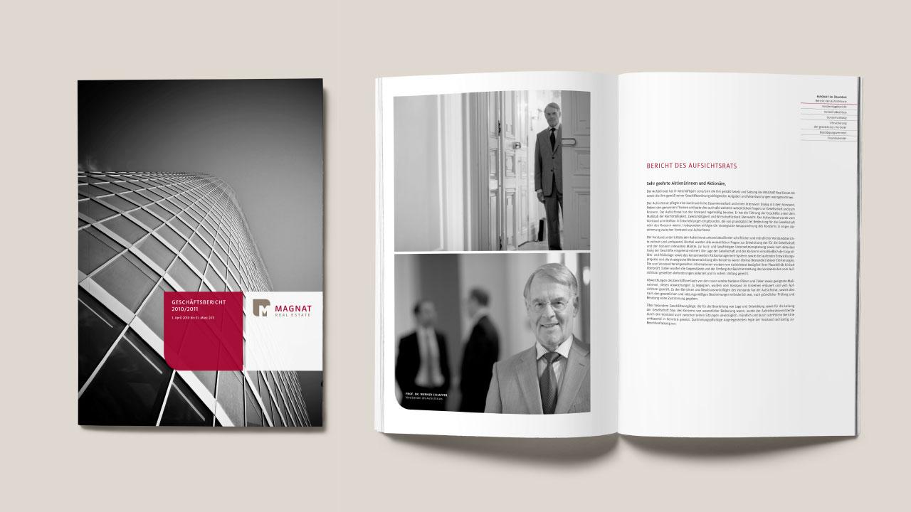 Magnat Geschäftsausstattung Geschäftsbericht Magnat Real Estate Business equipment