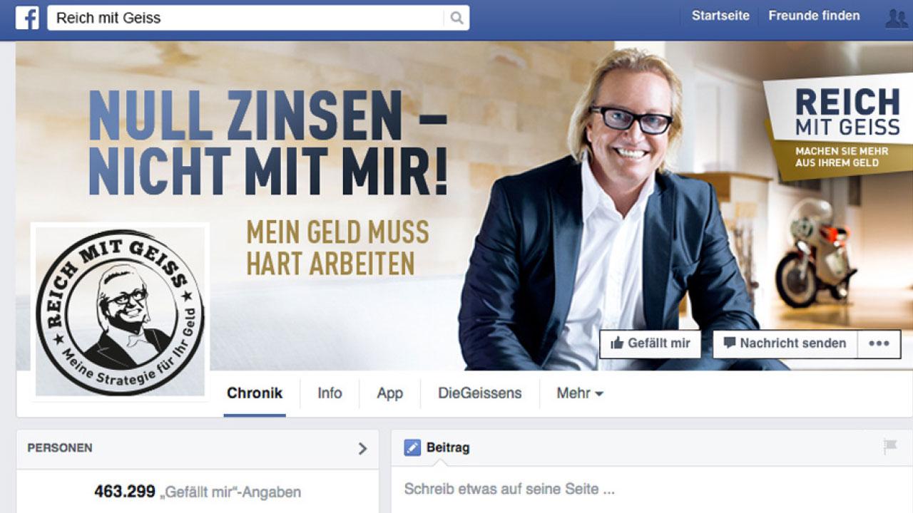 Börsenmedien AG Nationale Werbekampagne mit Robert Geiss Facebook Börsenmedien National advertising campaign