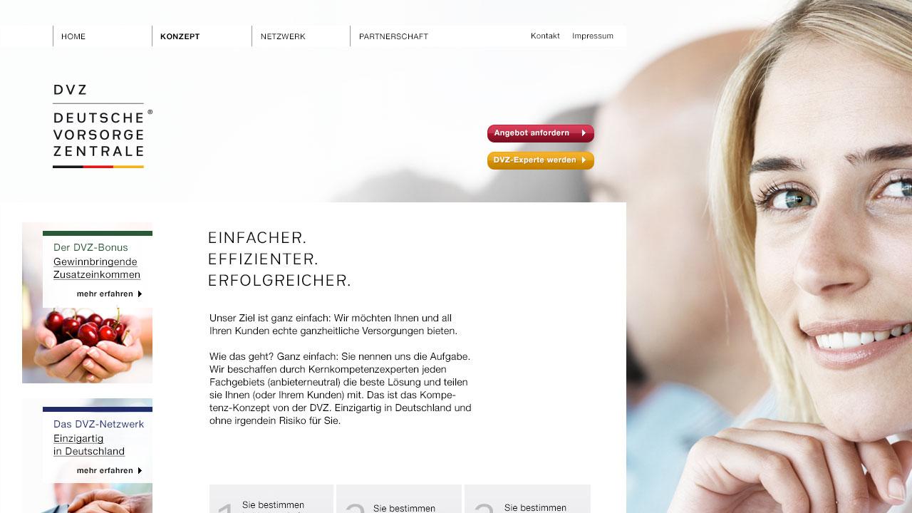 DeutscheVorsorgeZentrale online Konzept