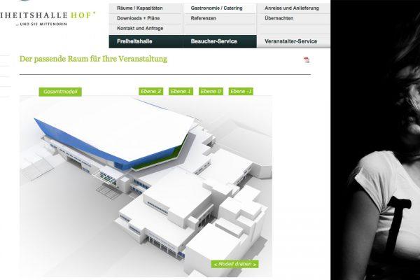Freiheitshalle online Modell