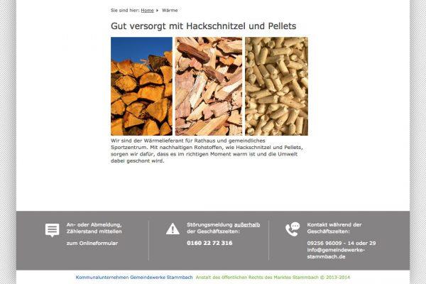 Gemeindewerk Stammbach online Wärme