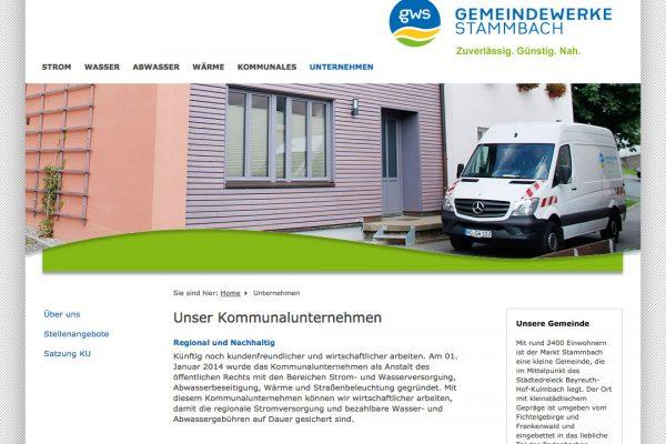 Gemeindewerk Stammbach online Unternehmen