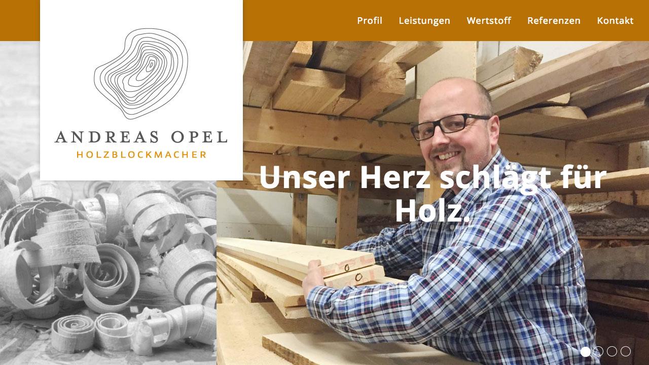 Holzblockmacher Andreas Opel online