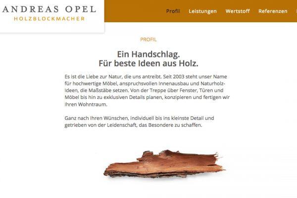 Holzblockmacher Andreas Opel online Profil