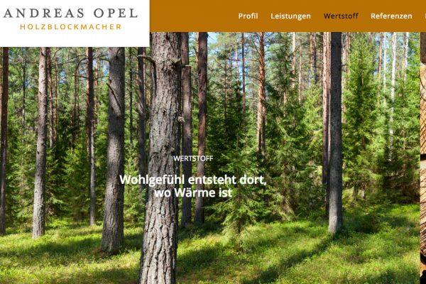 Holzblockmacher Andreas Opel online Wertstoff
