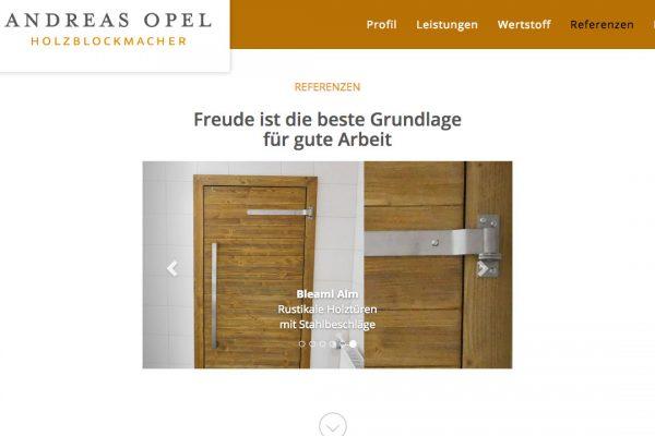 Holzblockmacher Andreas Opel online Referenzen