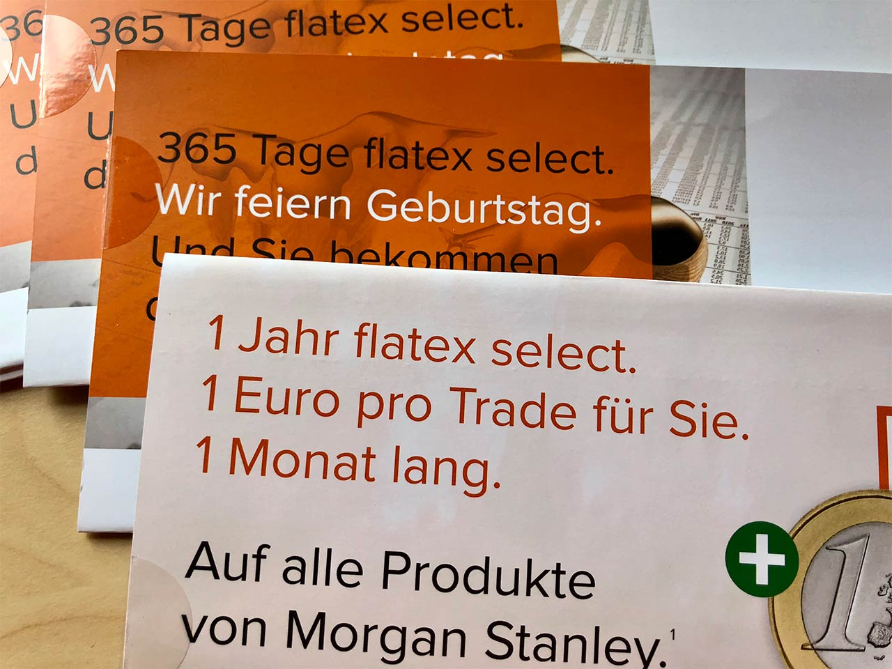 flatex 365 Tage select Direct Mailing Mehr für die Märkte More for the markets