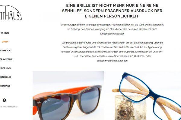 Matthaeus online Optik