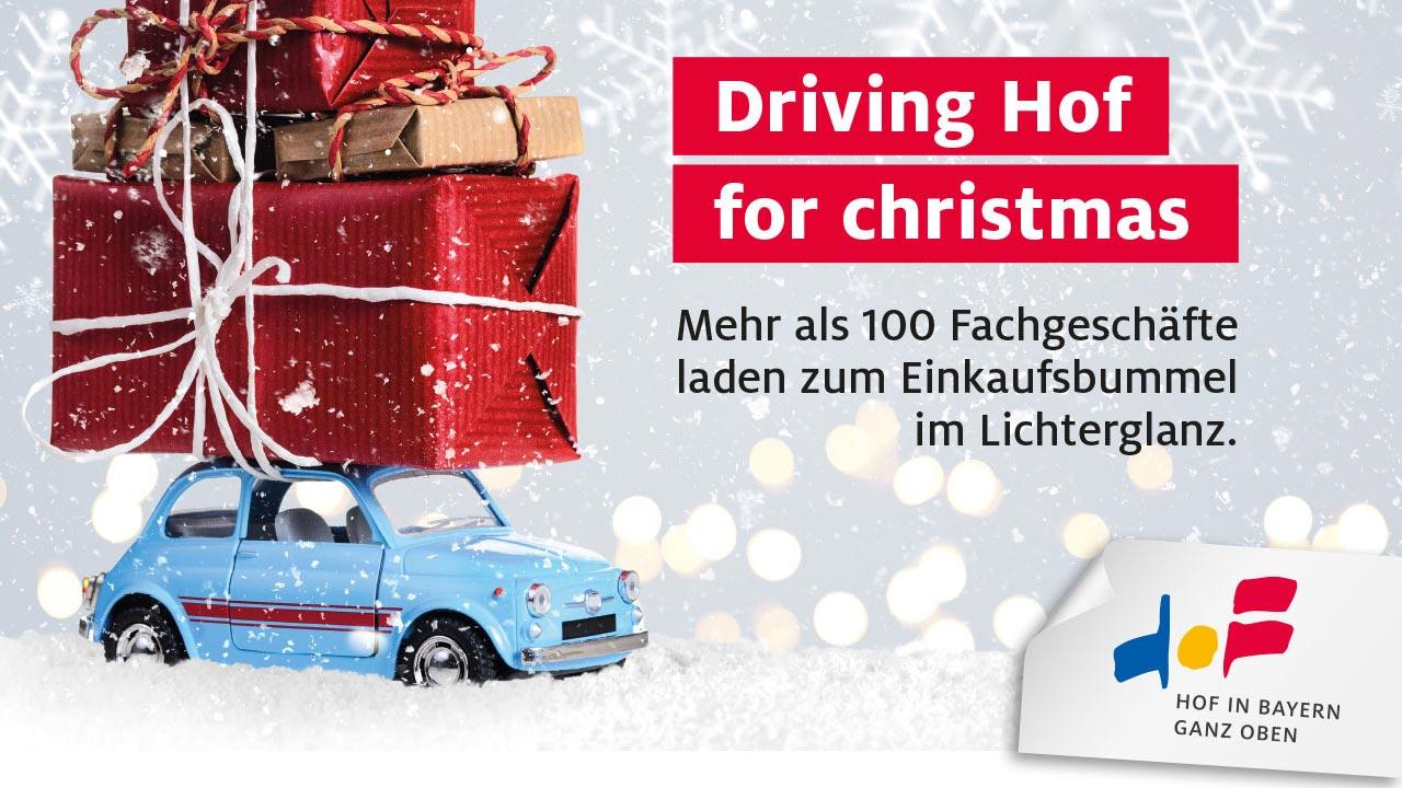 Driving Hof for christmas Radiospot
