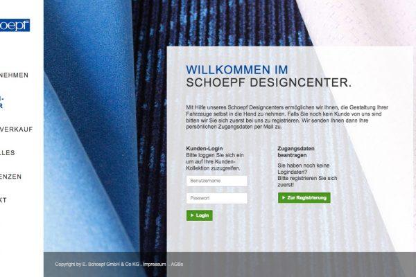 Schoepf online Designcenter