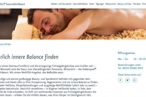 Siebenquell online Beauty und Spa