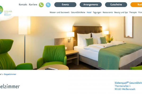 Siebenquell online Hotel