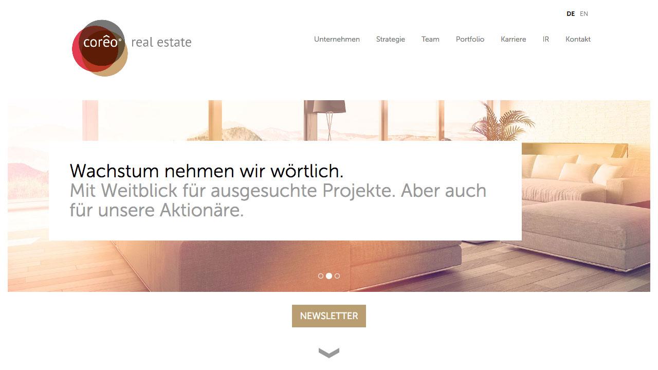 Coreo AG online