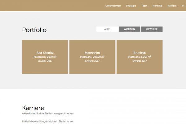 Coreo AG online Portfolio