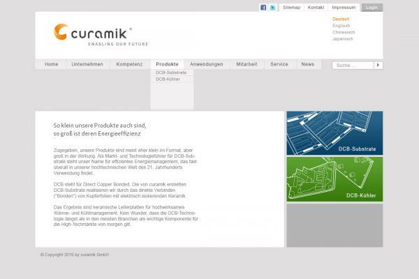 curamik online Produkte