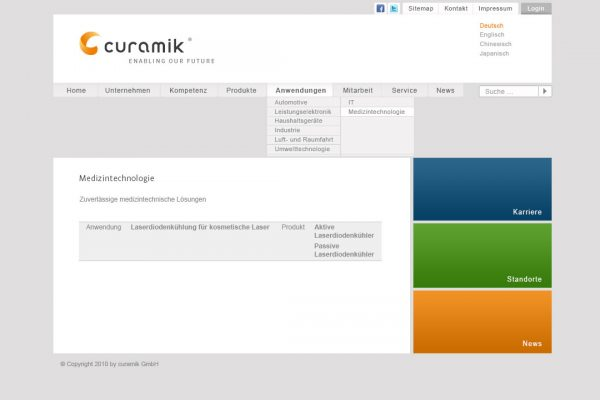 curamik online Medizintechnologie