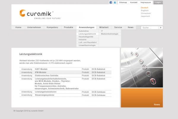 curamik online Leistungselektronik