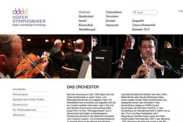 Hofer Symphoniker online Orchester