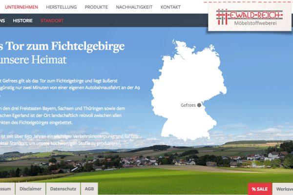 Weberei Reich online Standort