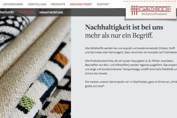 Weberei Reich online Rohstoffe