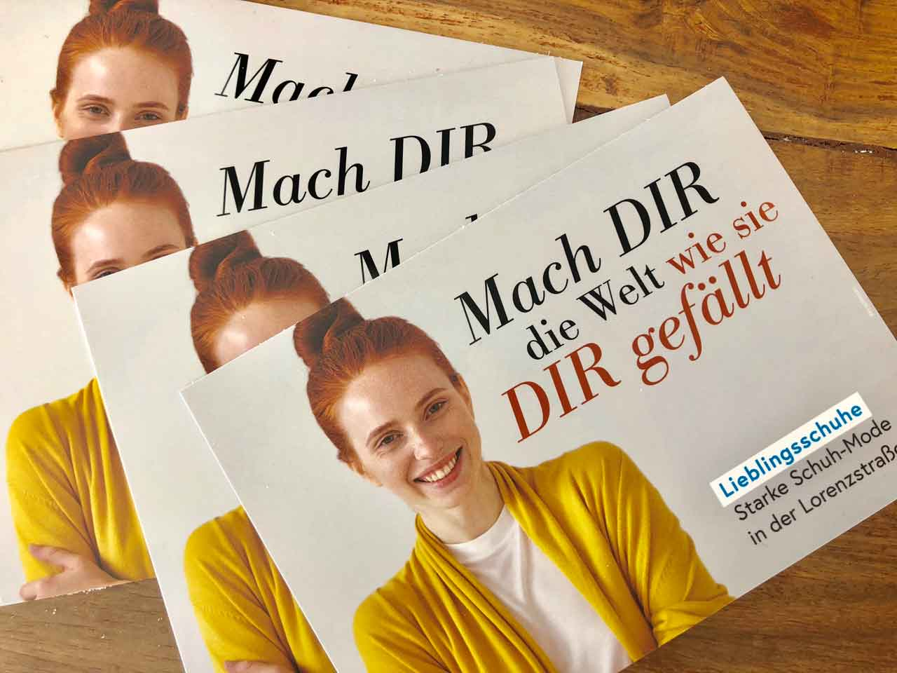 Pfersdorf Lieblingsschuhe Großflächenaktion Lieblingsschuhe – Marke ist Programm Lieblingsschuhe – brand is program