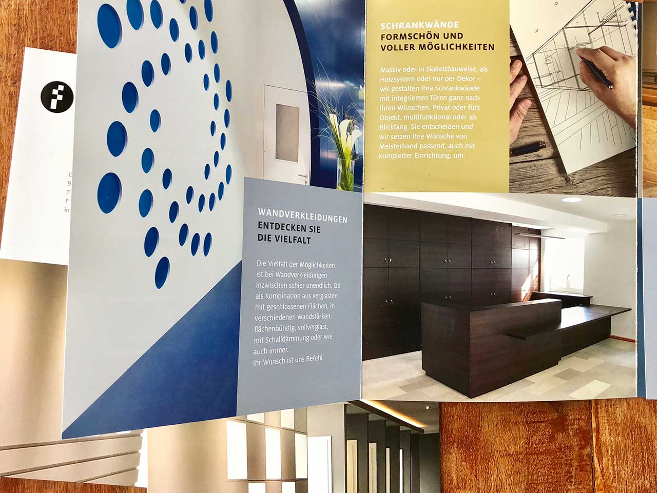 Formstyles Wandsysteme formstyles - wall systems Broschüre
