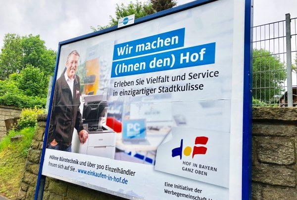 Werbegemeinschaft Hof Plakataktion
