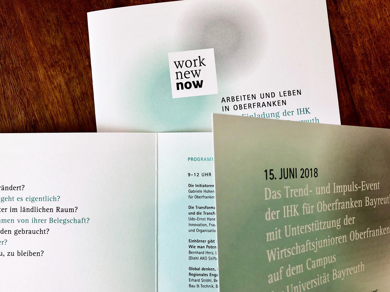 IHK WorkNewNow Druck logo that carries future