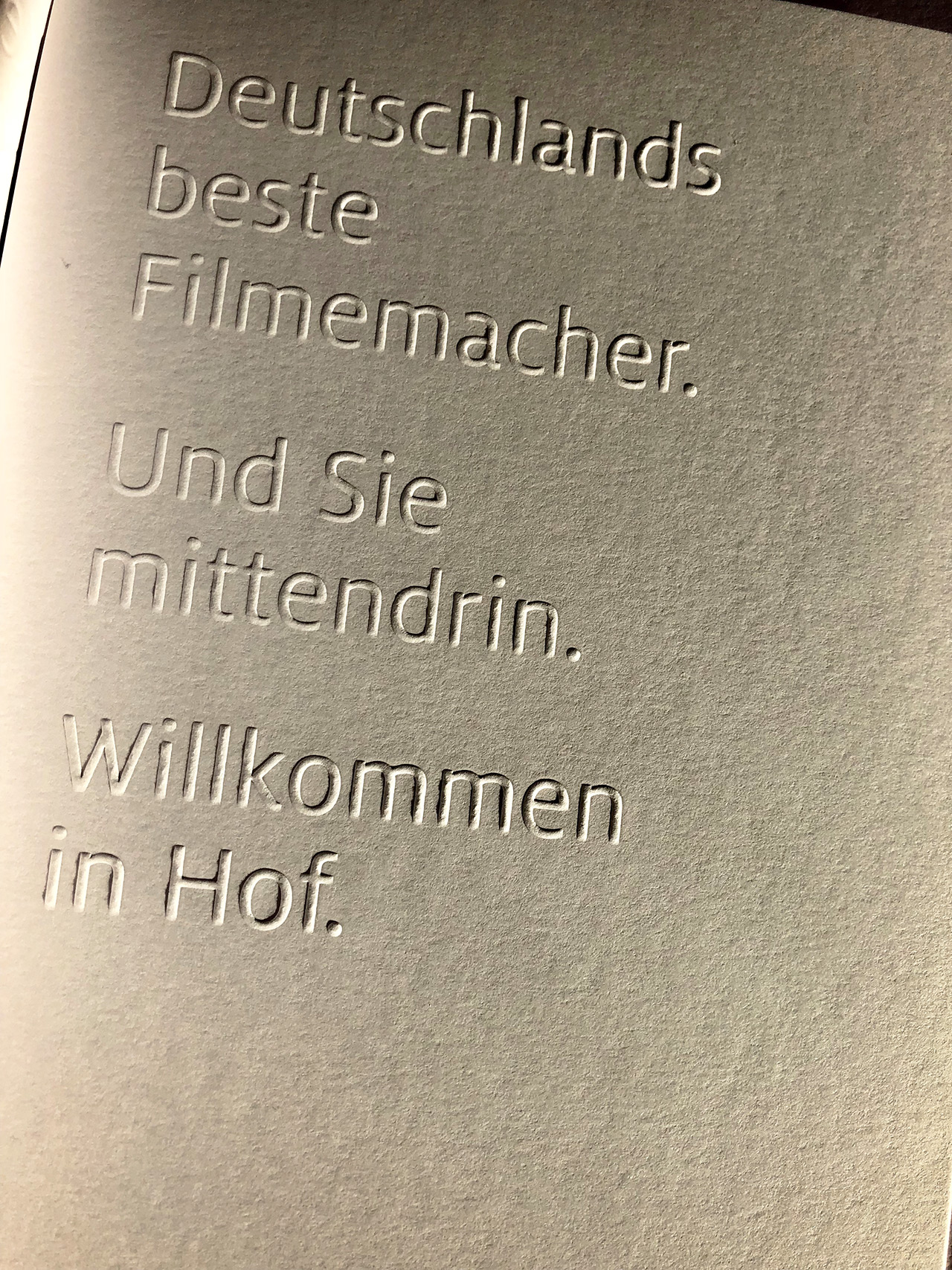 Hofer Filmtage 2018 International movie festival Hof