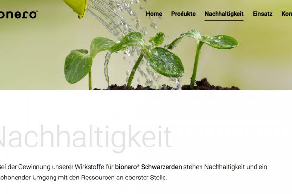 bionero online Nachhaltigkeit