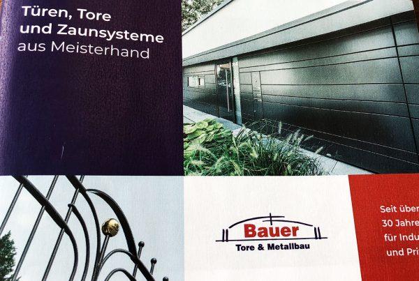 Bauer Tore und Metallbau Broschüre