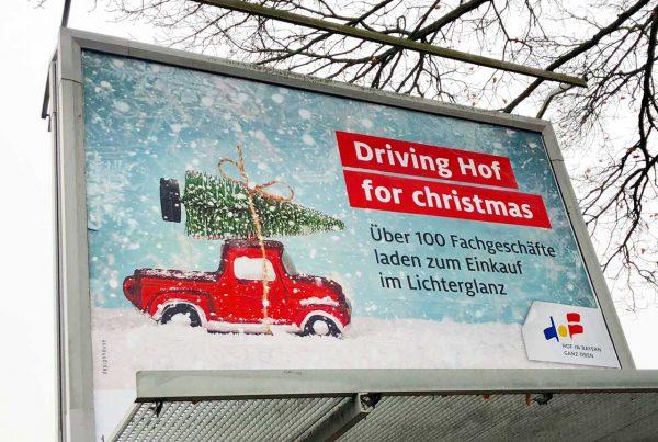 Driving Hof for Christmas Großfläche